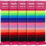 Teenitor 125pcs Cotton hair bands, Durable Seamless Ponytail Holders for Baby Kids Toddlers Girls, Small Elastic Hair…