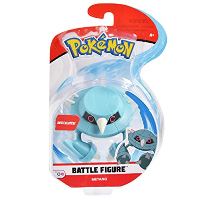 Pokemon 3 Inch Metang Articulated Battle Action Figure: Toys & Games