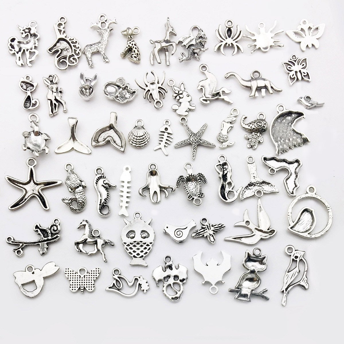 Craft Supplies Small Antique Silver Fly Animals Charms Pendants Crafting About 100pcs Fly Animal Charms iloveDIYbeads 100g Jewelry Findings Making Accessory DIY Necklace Bracelet