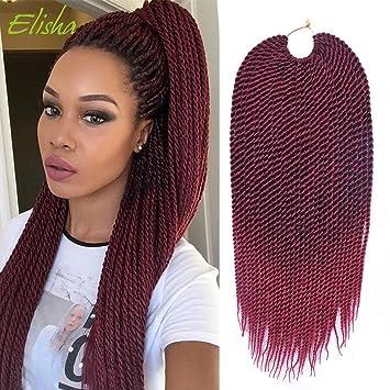 Amazon Com 6 Packs Senegalese Twist Crochet Hair Braids Small
