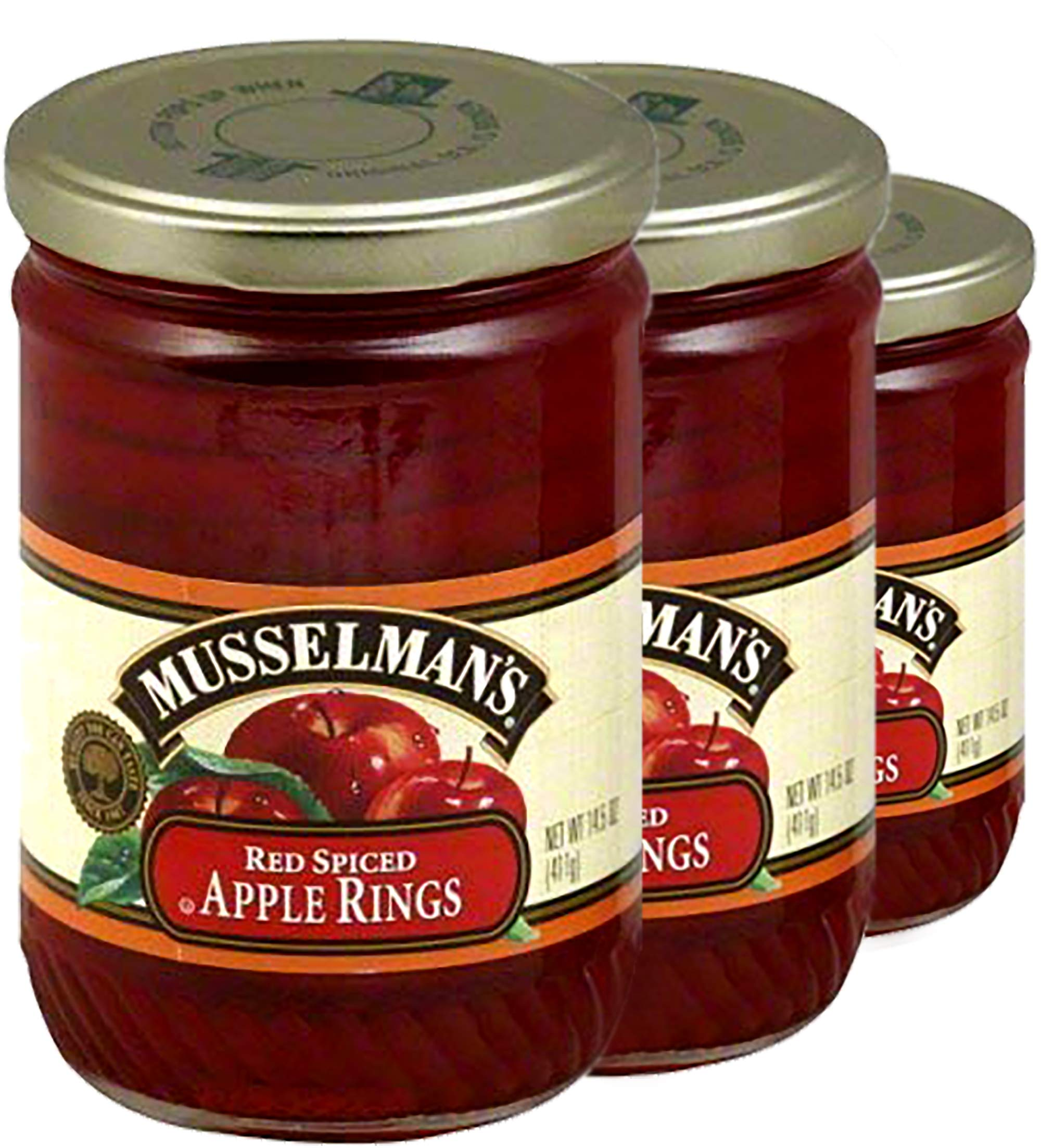 Musselman's Red Spiced Apple Rings, 3 Pack