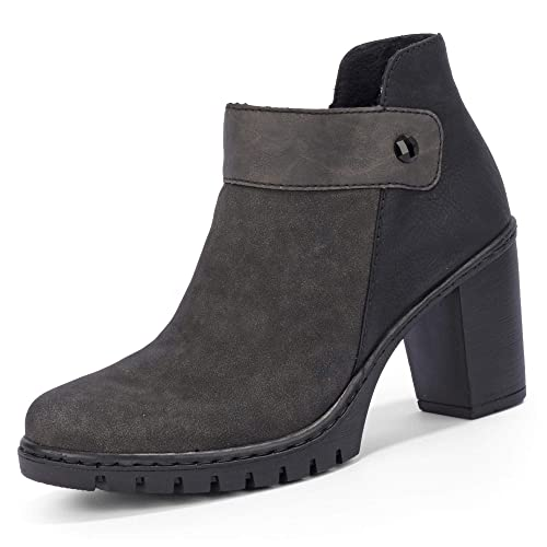 33d7055b94f Rieker Y2582 - Botas sin Cremallera de Sintético Mujer: Amazon.es: Zapatos  y complementos