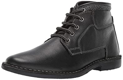 dd573180d2c Steve Madden Men s Manner Ankle Boot Black Leather 7 ...