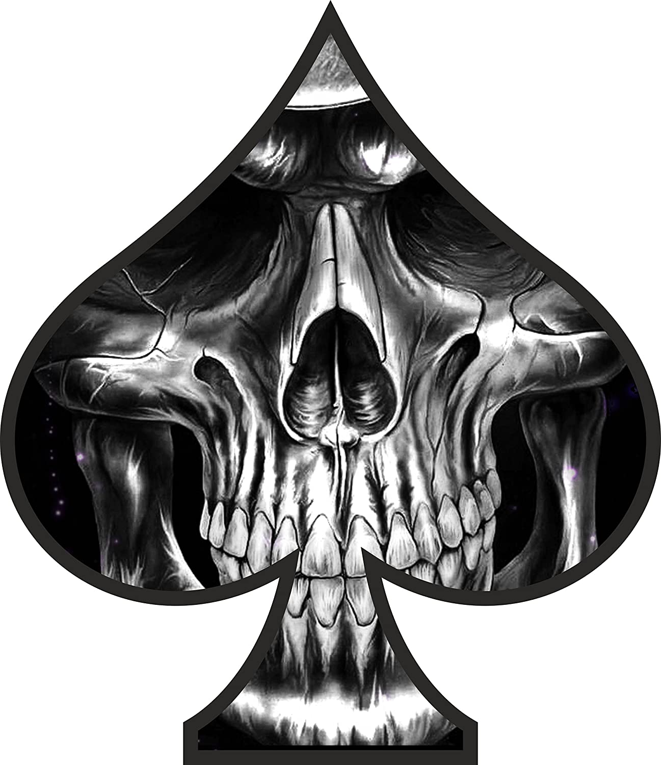 Design a bike sticker - 2 X Skull Ace Of Spades Sticker Decal Motorbike Helmet Boards Tablet Ipad Laptop
