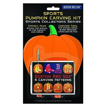 Boelter Brands Mlb Boston Red Sox Pumpkin Carving Kit Amazon Co Uk