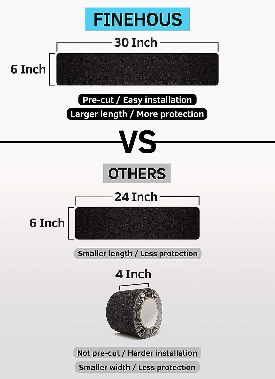 Nastro antiscivolo per scale 15,2 x 76,2 cm strisce antiscivolo nere