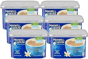 Maxwell House International Decaf Sugar Free French Vanilla Café, 4 oz Cans (Pack of 6)