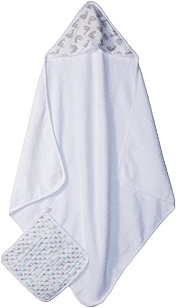 Amazon.com   aden + anais Hooded Towel and Washcloth Set - Magical Tail    Baby 2f9112fa3