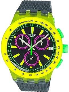 Swatch Yel-Lol SUSJ402 Matte Yellow Silicone Quartz Fashion Watch