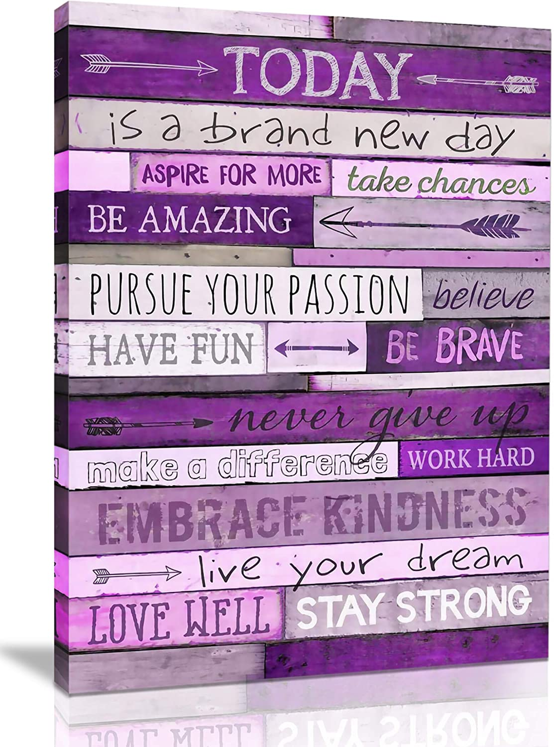 Inspirational Wall Art with Office Wall Decor for Bedroom Teen Girl Wall Pictures for Living Room Wall Decor for Bedroom Word Artwork for Home Walls Teenage Girl Room Decor 12x16