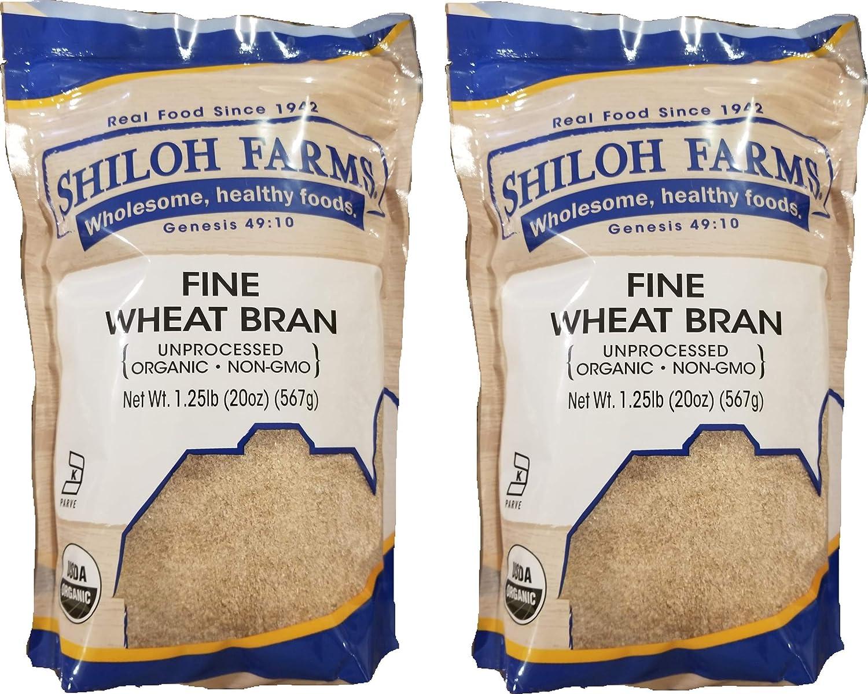 Amazon Com Shiloh Farms Organic Fine Wheat Bran 2 Pack 20 Ounce Bags Grocery Gourmet Food