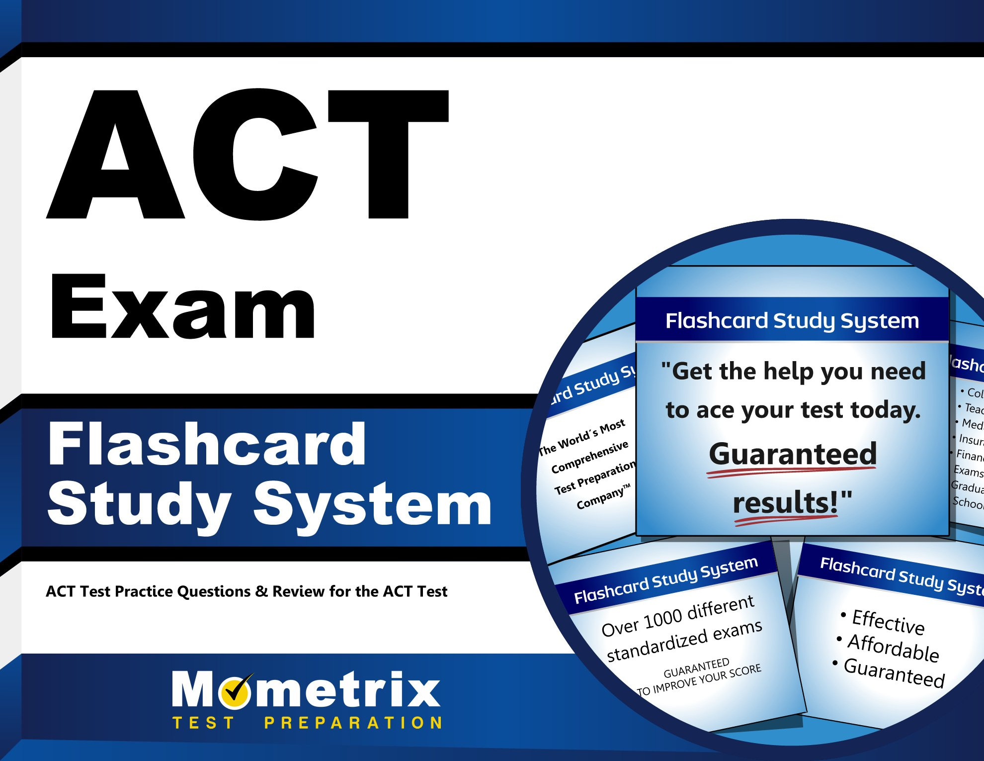 ACT Exam Flashcard Study System: ACT Test Practice Questions & Review for  the ACT Test (Cards): ACT Exam Secrets Test Prep Team: 9781609710668:  Amazon.com: ...