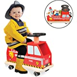 Fire Truck Ride On by Svan - 100% Wood - Removable Seat Turns Into Toy Box