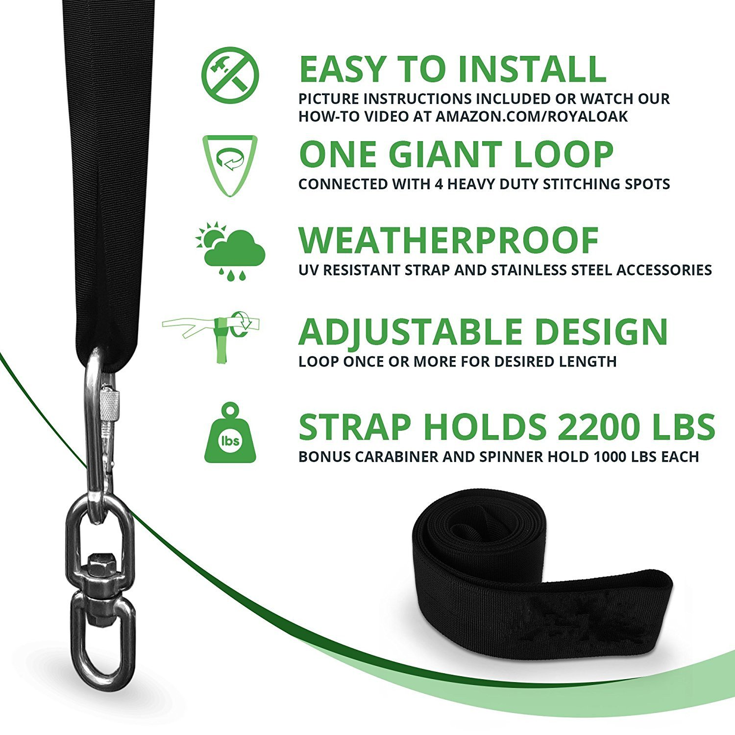 Hammocks /& Most Swing Seats Holds 2200lbs Swivel Hook WERTYCITY Easy Hang Tree Swing Straps Kit 100/% Waterproof Carry Bag Included Perfect for Tire Saucer Swings with Heavy Duty Carabiner