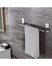 Adhesive Towel Bar, Ceinter Bathroom Towel Holder Stick on Bath Towel Rail Holder No Drill, SUS 304 Stainless Steel 40cm