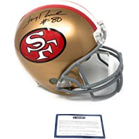 $199 » Jerry Rice San Francisco 49ers Signed Autograph Full Size Helmet Steiner Sports Certified