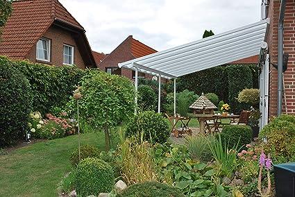 Palram Pergola Feria - Funda para patio (4 x 7, 87 m, estructura robusta, para uso durante todo el año), color blanco: Amazon.es: Jardín
