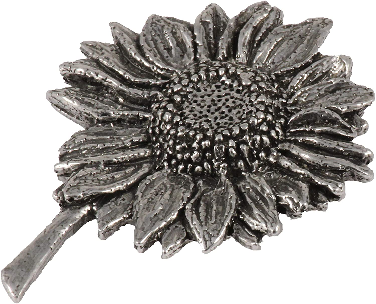 Creative Pewter Designs - Plant Lapel Brooch Pin, Handmade in The USA - Available in Pewter, Copper & 22k Gold Plated & Hand Painted