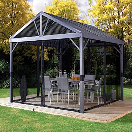 AMGS Hot Tub Gazebo Canopy 10x10 Mosquito Netting Patio Garden Outdoor Tent  BBQ Grill Netted Curtains