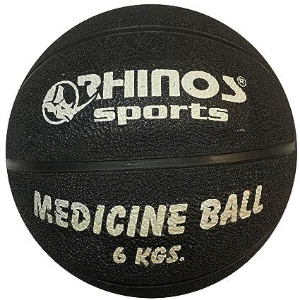 Rhinos Sports - Balón medicinal, pelota 6 kg, Negro: Amazon.es ...