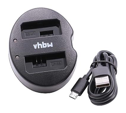 vhbw Cargador Dual Micro USB Cable de Carga para batería de cámara ...