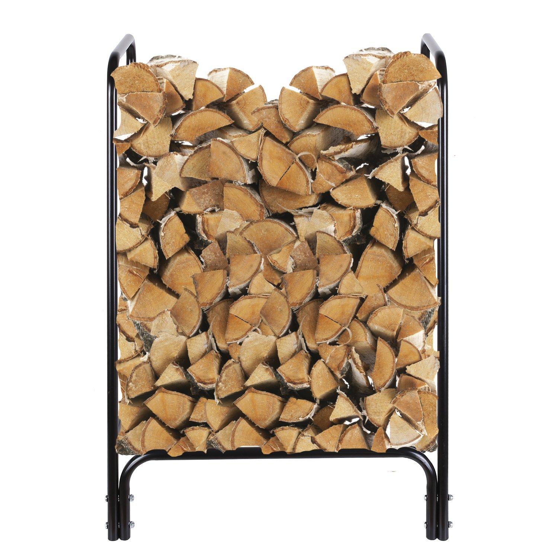 Amazoncom Homfa Firewood Log Rack, 4 Foot Heavy Duty Outdoor Indoor