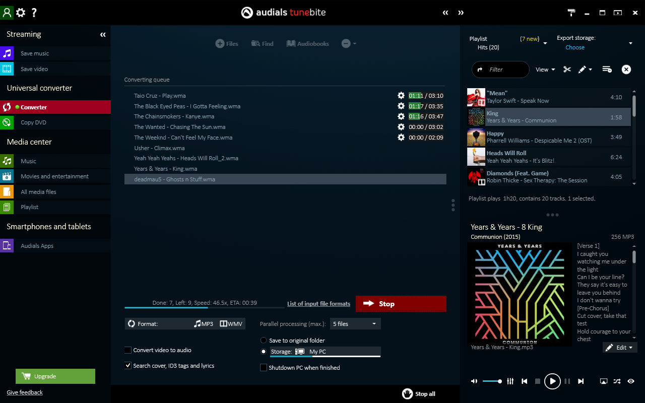 Audials Tunebite 2016 Premium: Low-price Recorder for Recording Music Streams with Audio Format Converter [Download] - Image 5