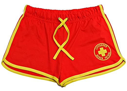 2a5db8f2b2bd Lifeguardgear Red Yellow Lifeguard Shorts + Yellow Draw Cord  Amazon.co.uk   Clothing