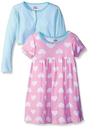 7bfe3e0905 Amazon.com  Gerber Baby Girls  2-Piece Cardigan and Dress Set  Clothing