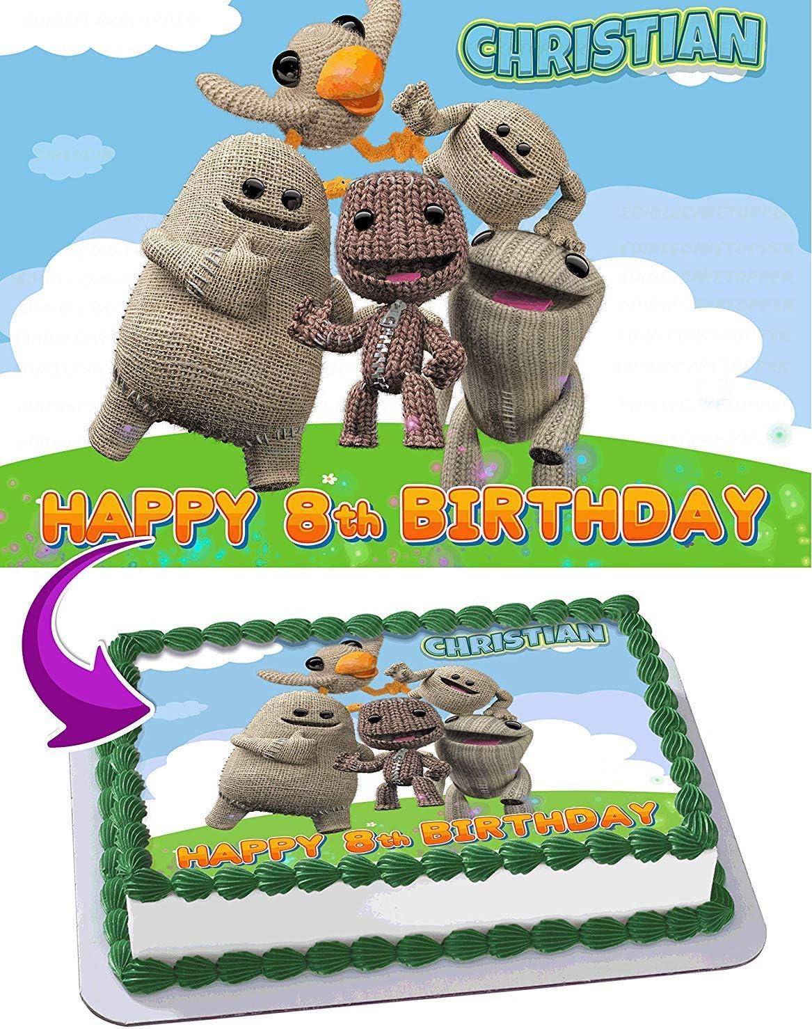 Wondrous Amazon Com Littlebigplanet Edible Cake Image Topper Personalized Birthday Cards Printable Riciscafe Filternl