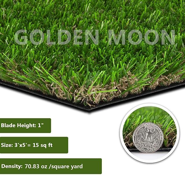GOLDEN MOON Realistic Artificial Grass Mat