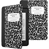 MoKo Case Fits Kindle Paperwhite (10th Generation, 2018 Releases), Premium Ultra Lightweight Shell Cover with Auto Wake/Sleep for Amazon Kindle Paperwhite 2018 E-reader - Notebook Black