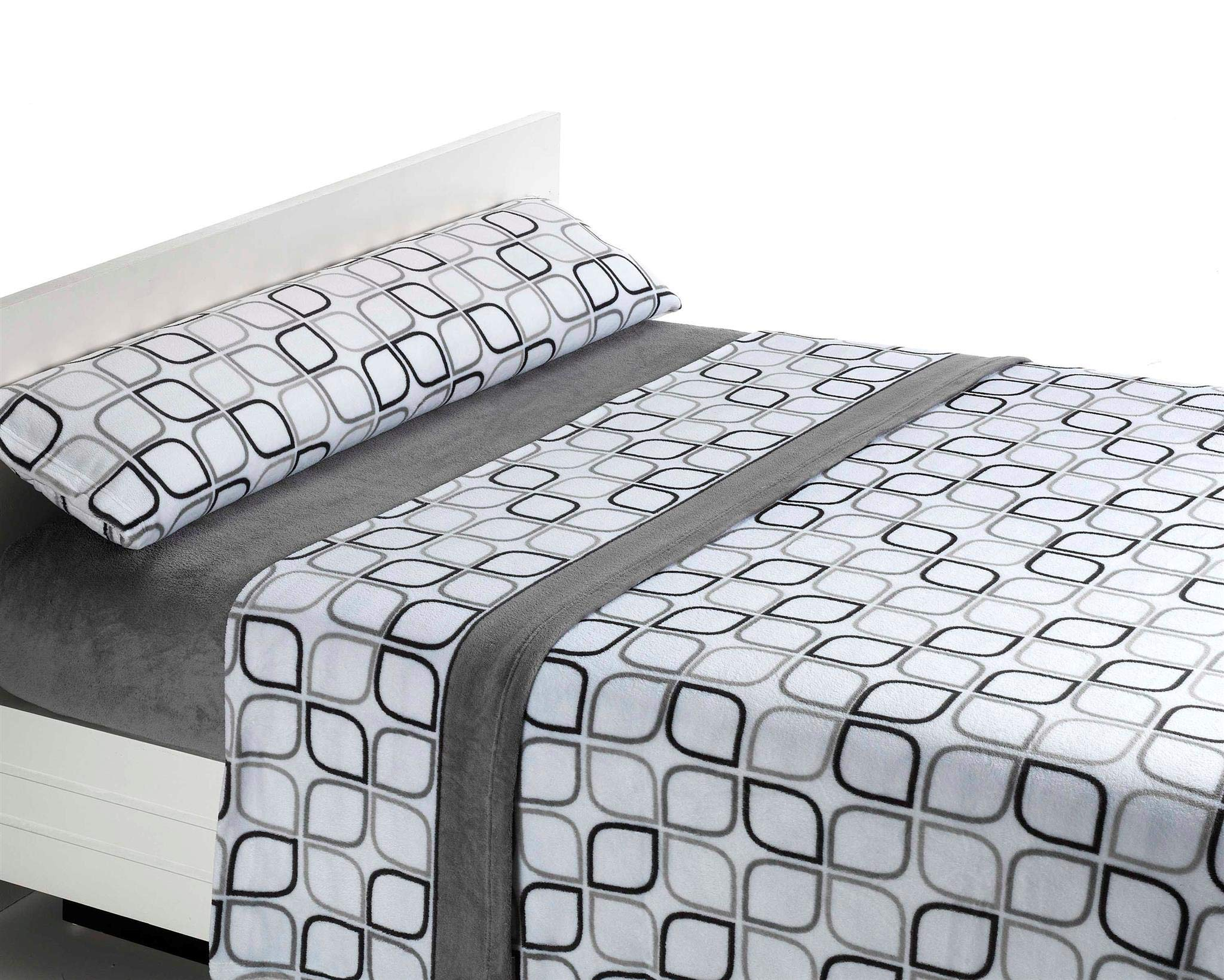 Juego de sábanas de coralina Spring - Gris, Cama 90 product image
