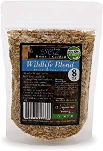 Wildlife Food Plot Blend & Forage Seed Mix by Eretz (8oz) - Choose Size! Willamette Valley, Oregon Grown, Attract and Feed: Deer, Turkeys, & More! No Coatings, No Weed Seeds.
