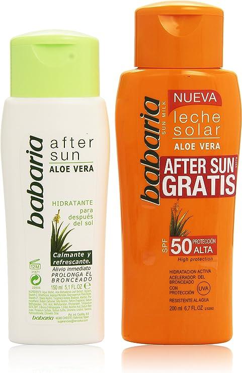 Babaria - Leche Solar con Aloe Vera - Protección alta, factor de ...