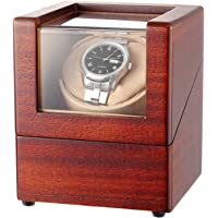 CHIYODA Automatic Single Watch Winder with Quiet Mabuchi Motor -12 Modes 100% Handmade