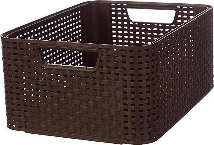Curver Style M - Storage Boxes & Baskets (Storage Basket, Brown, Rattan, Monotone, Bathroom, Bedroom)