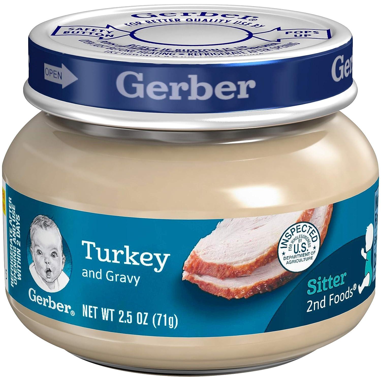 Gerber 2nd Foods Meats, Turkey & Turkey Gravy, 2.5-Ounce (Pack of 20)