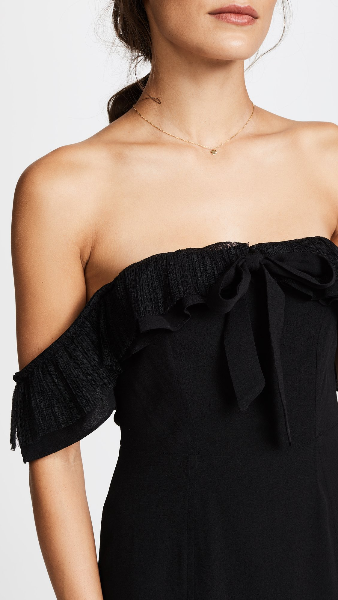 For Love & Lemons Women's Claire Off Shoulder Dress, Black, X-Small by For Love & Lemons (Image #6)