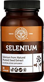 Global Healing Selenium 200mcg with Mustard Seed Extract, Antioxidant Supplement for