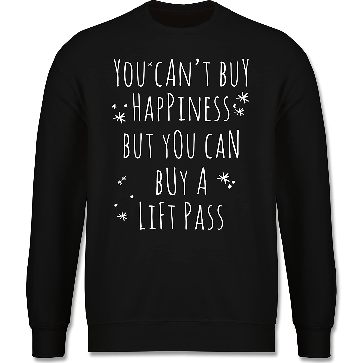 Wintersport - Buy Happiness Lift Pass Ski Snowboard - schlichter Herren Pullover