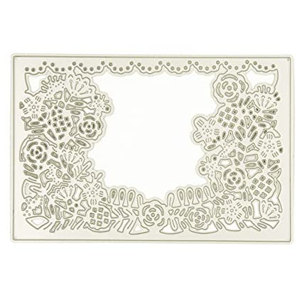 Amazon Com The Flower Border Design Metal Crafts Cutting Dies For