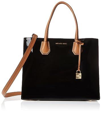 56affe055cba9 Michael Kors 30T7GM9T3A Womens Mercer Satchel Black (Black)  Handbags   Amazon.com