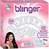 Blinger Dazzling Clear Gem Refill Set - Includes 180 Clear Round Gems Offered in 3 Different Sizes