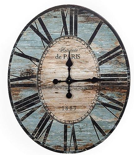 Creative Co-op Distressed Wood Wall Clock