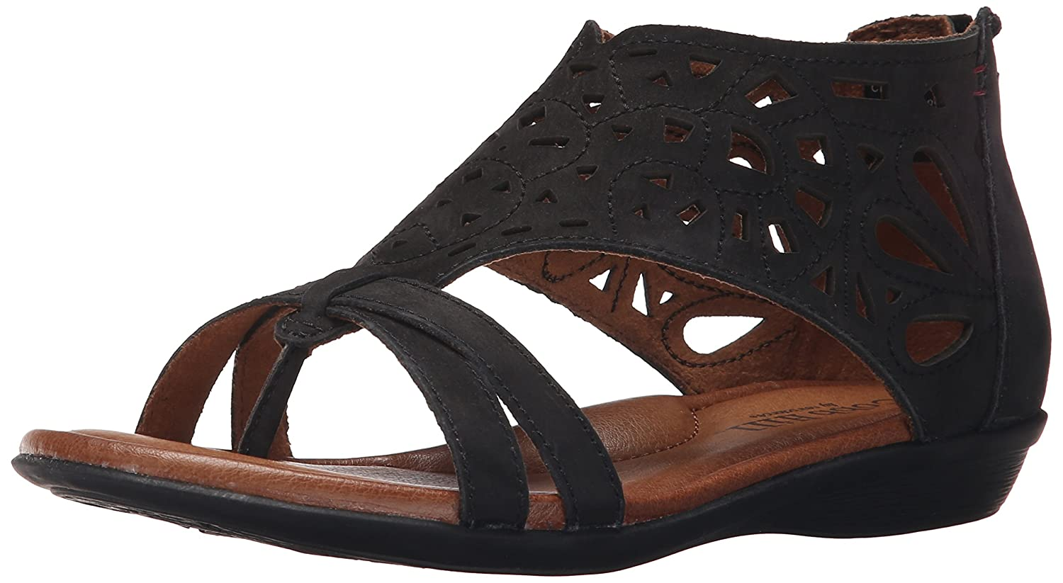 Cobb Hill Rockport Women's Jordan-CH Flat Sandal B074198MMQ 6 C/D US|Black