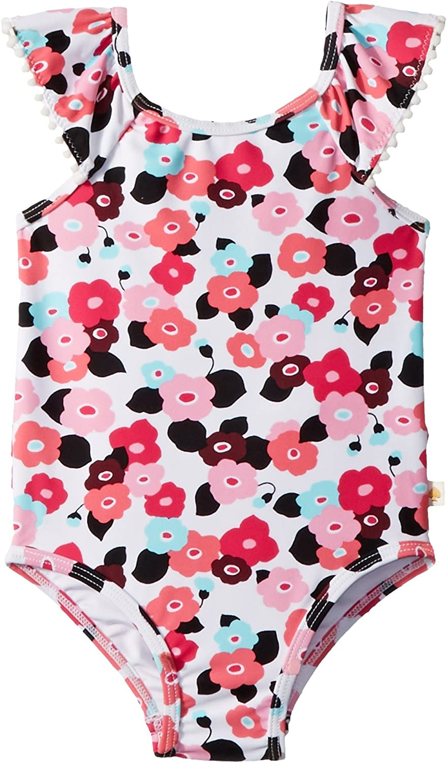 3c8b5f82a5 Keep her ready for the water in the adorable Kate Spade New York Kids®  Blooming Floral One-Piece.One-piece bathing suit.Ruffled, jewel neckline.