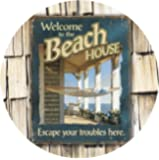 Thirstystone Stoneware Coaster Set, Welcome to the Beach House