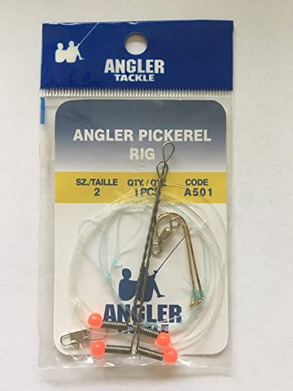 1//0 and  2//0 39 pcs of pickerel rigs hook sizes 4 2 drop arms