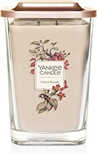 Yankee Candle Elevation Collection with Platform Lid Velvet Woods Scented Candle, Large 2-Wick, 80 Hour Burn Time